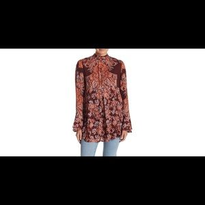 NWT Free People Lady Luck Tunic: Size S: Mulberry